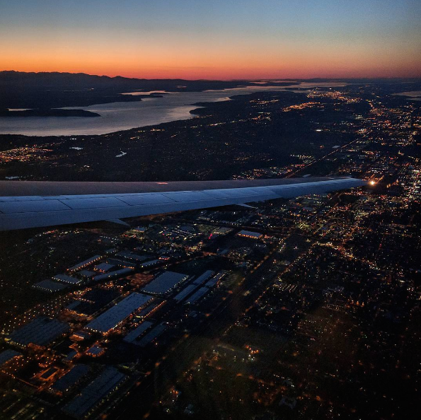 A quick capture of our landing in Seattle after our big week in the midwest.